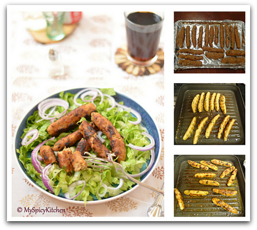 Chicken Kababs, Blogging Marathon,