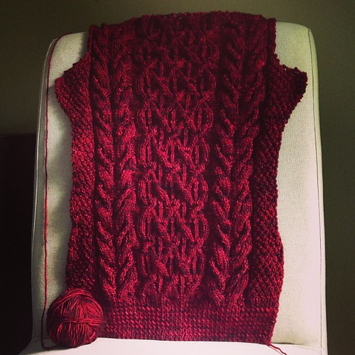 beatnik progress by knitter gal