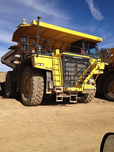 A dump truck at Molycorp Minerals