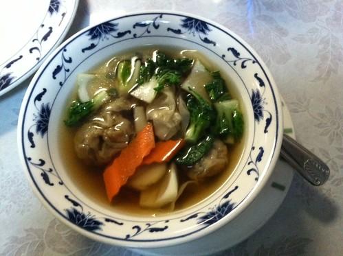Wonton soup at Bamboo Garden
