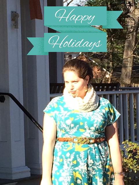 Anna dress holiday greeting