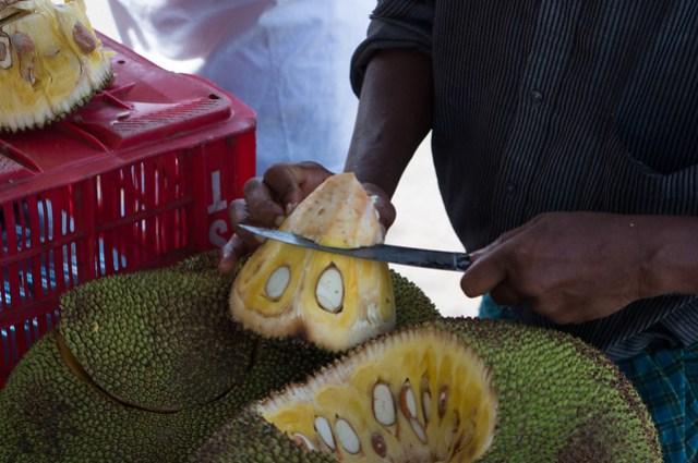 Cutting Jack Fruit