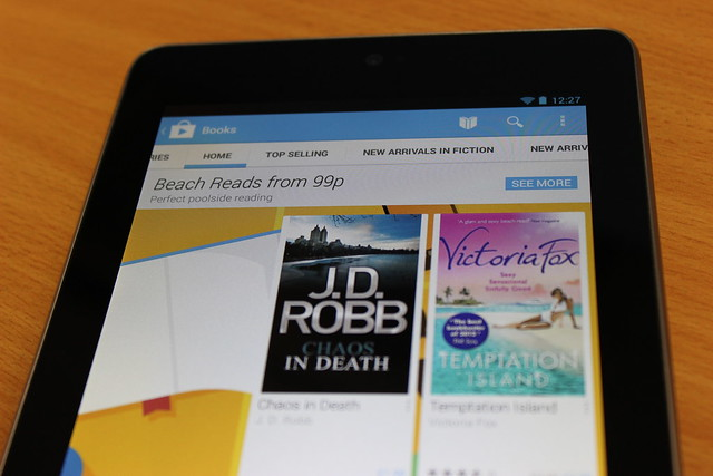 Google Play Books on a Nexus 7