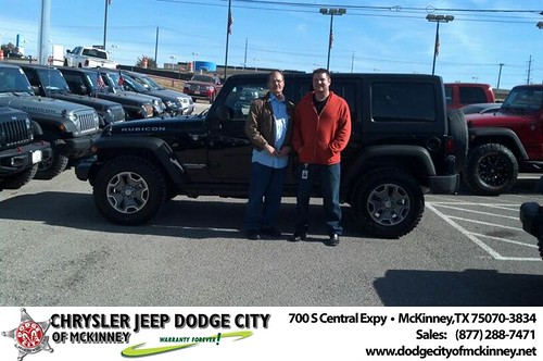 Thank you to David I & David Ll Rollins on your new 2014 #Jeep #Wrangler Unlimited from Bobby Crosby and everyone at Dodge City of McKinney! #NewCar by Dodge City McKinney Texas