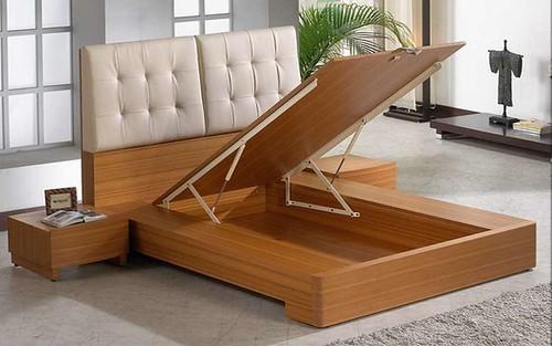 掀床工廠推薦款-多莉人造柚木床台-高質感掀床床架組2