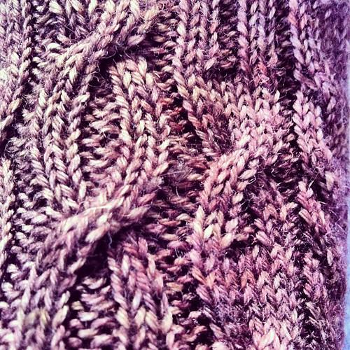 #yarnpadc catch up, Day 4: Stitches on a sock that still needs a parter #secondsocksyndrome