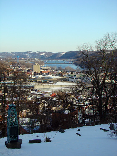 View toward Sharpsburg from Morelock St - Borough of Etna, Feb. 18th 2014