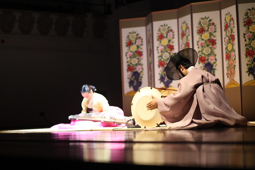 Performance with traditional Korean instruments, geomungo and janggu