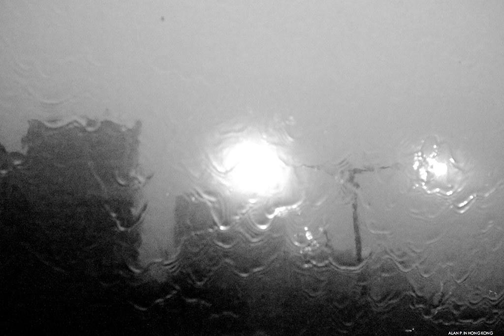 Lamps through the rain