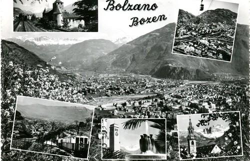 postcard - bolzano - vedutine - 1963