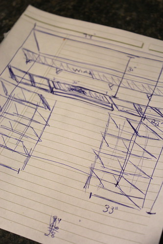 20131103. High tech drawing of what the nursery closet will eventually look like.