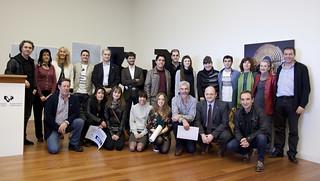 Foto grupo general. 1IV Premios Alumnado Mejor Difundido Imagen UPV-EHU