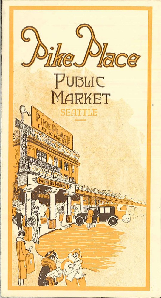 Pike Place Public Market pamphlet cover - Seattle, Washington U.S.A. - 1930