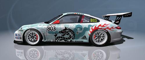 Porsche World Cup 2011 - Darryl-O'Young - Porsche carrera GT3 cup - rfactor - lesuntzu skin