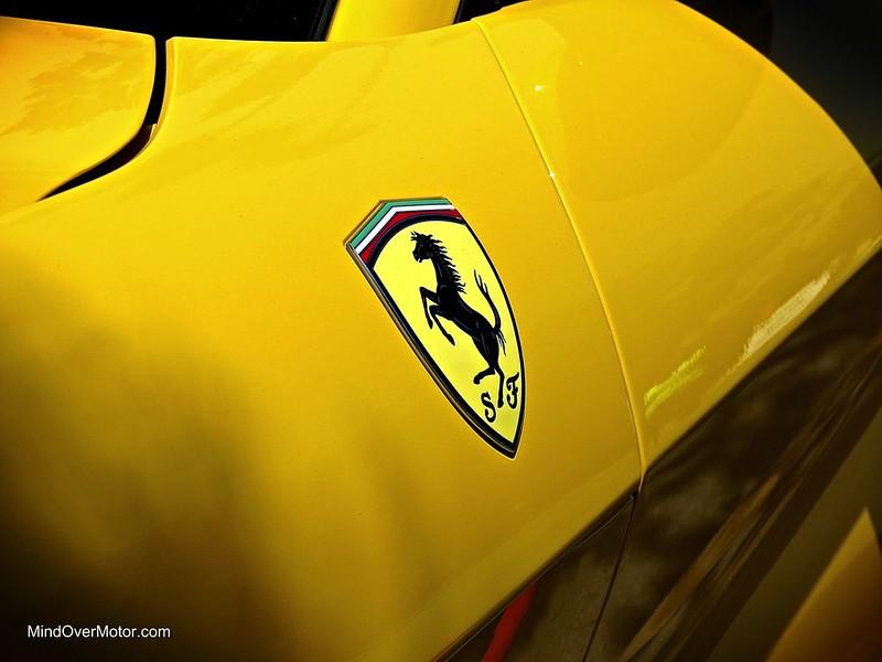 Yellow Ferrari F12 Berlinetta at Pebble Beach