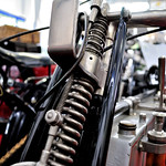 Old motorcycle suspension