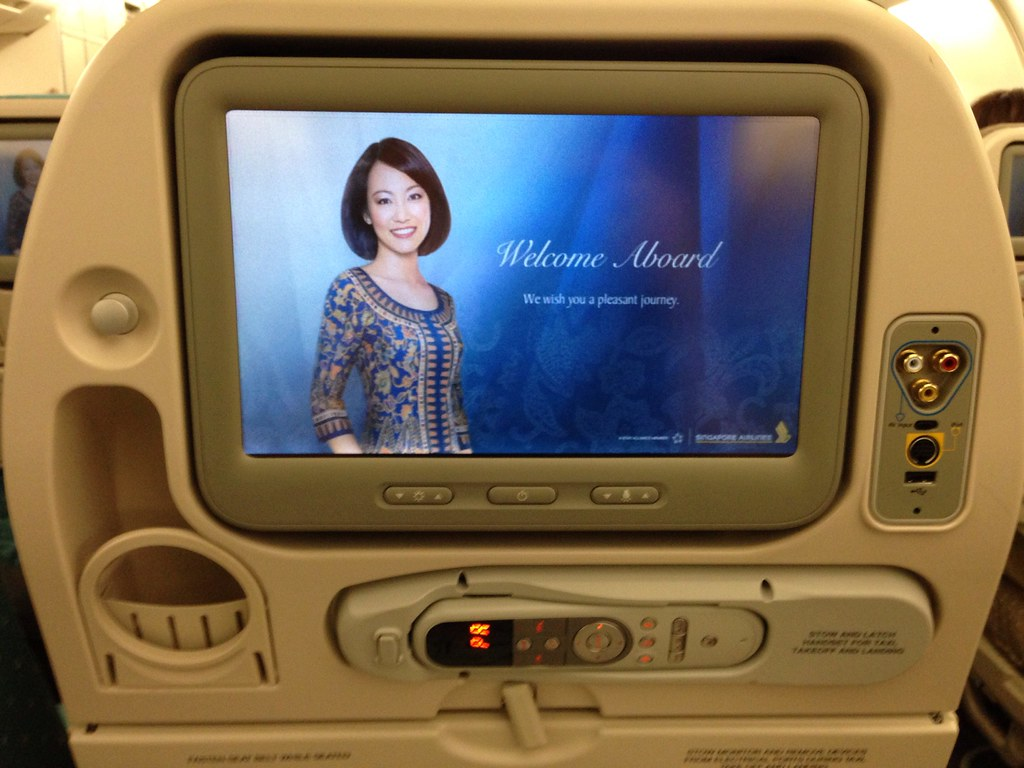 Seatback TV on SQ's Airbus A330