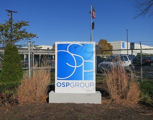 OSP Group Entrance Monument Sign by Redirections Sign & Design