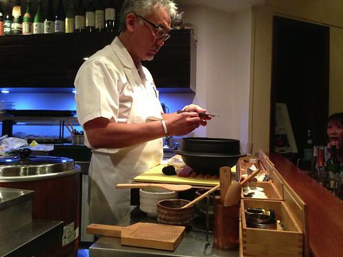 Shunji-san Shaving Black Truffles for Truffle Gohan