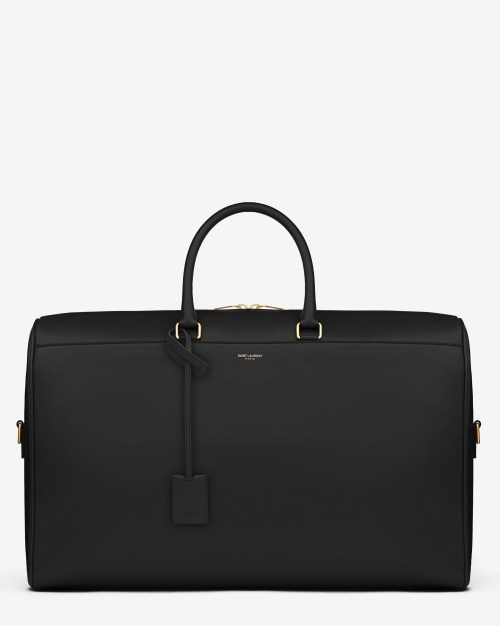 CLASSIC DUFFLE 24 BAG IN BLACK LEATHER $3,150.00