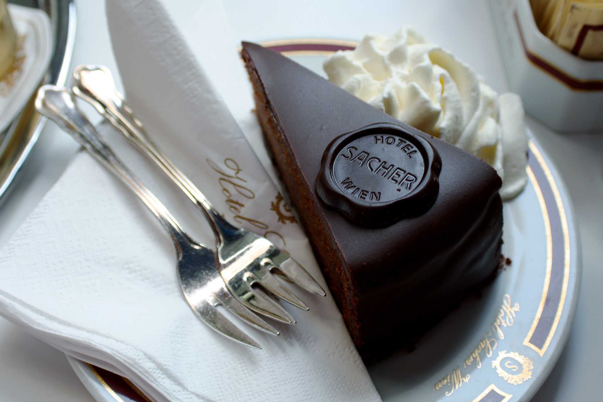 Famous Cafe Sacher chocolate cake.