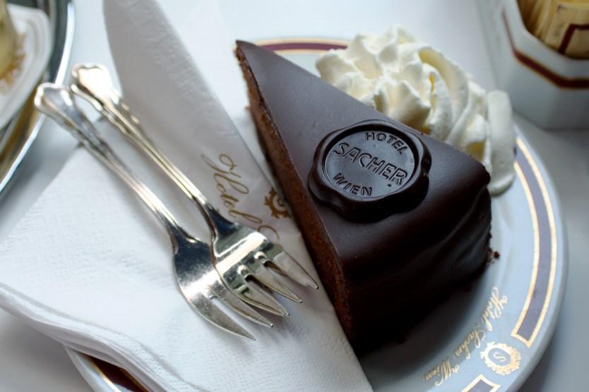 Famous Cafe Sacher chocolate cake.