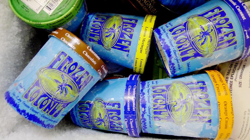 Frozen Coconut Ice Cream Dairy Free