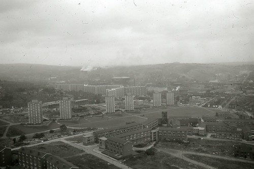 View from the Arts Tower, University of Sheffield. 5/10. Image thought to be taken soon after the building was opened in 1966. by The JR James Archive, University of Sheffield