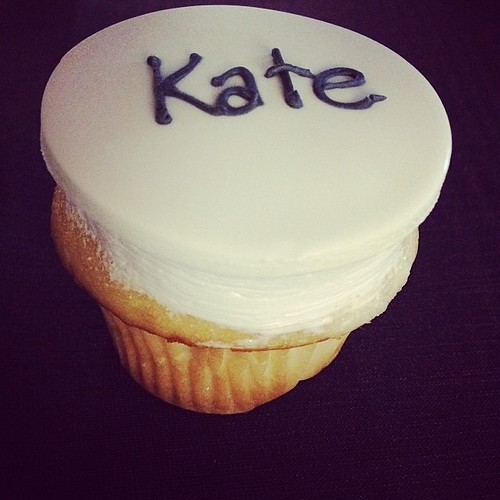 Kate's very own cupcake at the Purina IDC. #special