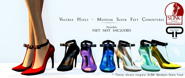Pure Poison - Valeria Heels - for SLINK Medium Bare Feet