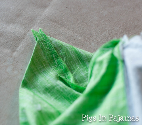 Green ditty bag corner