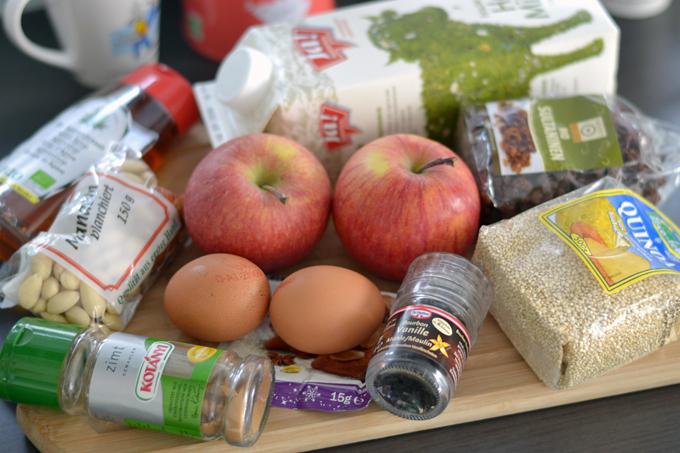 Quinoa-Auflauf mit Äpfeln und Zimt