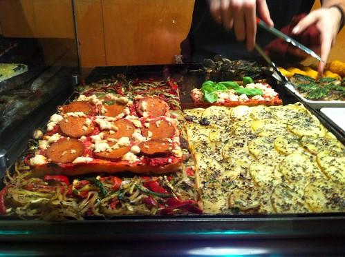vegan pizza slices at il buco