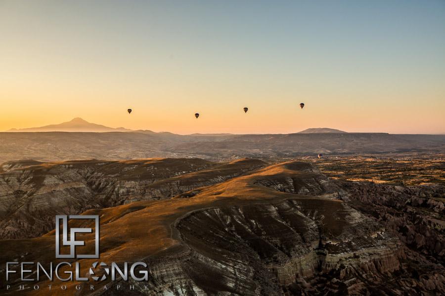 Sunrise hot air balloon ride in Cappadocia Turkey