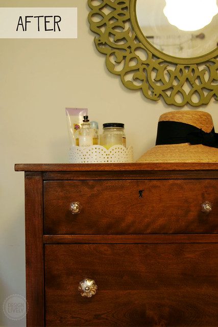 DIY Tutorial: Refinishing a Painted Dresser and How to Pre-Stain Wood
