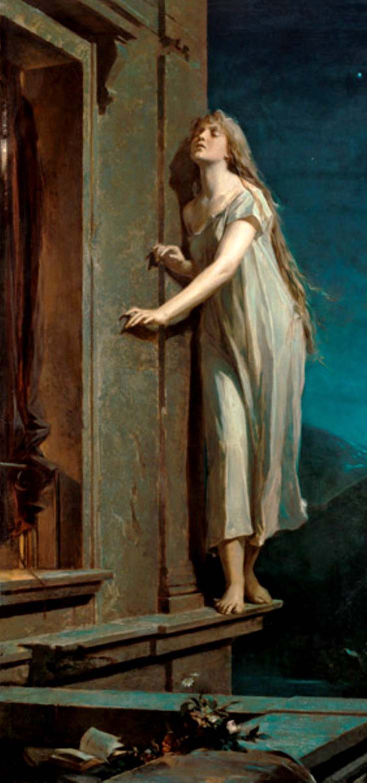 Maximilián Pirner, Die Nachtwandlerinm, 1878