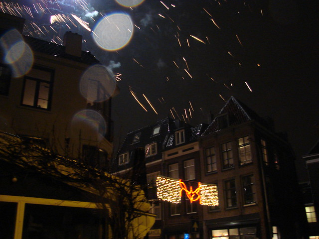 Fireworks over Wittevrouwenstraat