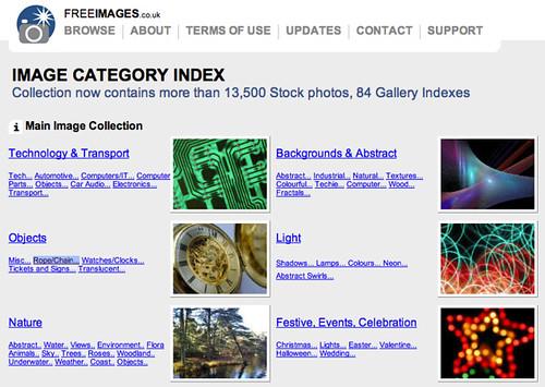 FreeImages.co.uk มีรูปให้เลือกใช้ฟรีๆ อยู่ไม่น้อยเหมือนกัน