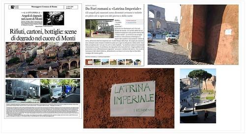 """ROMA ARCHEOLOGIA e BENI CULTURALI e ROMA di ALEMMANO: """"Alemanno: pedonalizzazione da rifare"""", IL MESS., (24/07/2013), & IL DEGRADO DELLA CITTA'- Via dei Fori Imperiali, Belvedere Cederna, che brutto spettacolo. La Repubblica (11/05/2011). by Martin G. Conde"""