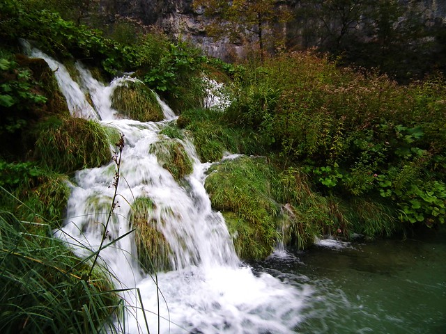 Small waterfall at Plitvice Lakes National Park