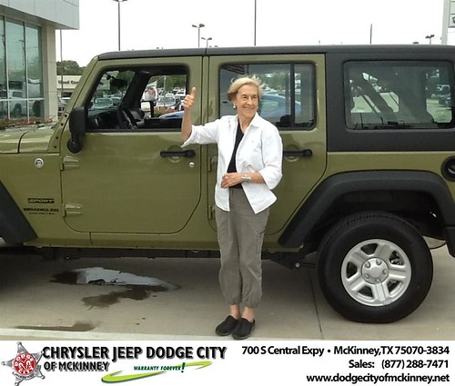 Thank you to Jean Chatting on your new 2013 #Jeep #Wrangler Unlimited from Joe Ferguson  and everyone at Dodge City of McKinney! #RollingInStyle by Dodge City McKinney Texas