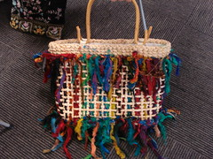 Tasselled handcrafted bag