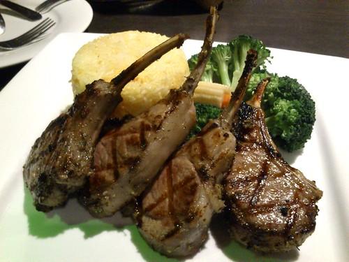Herb Grilled Rack of Lamb