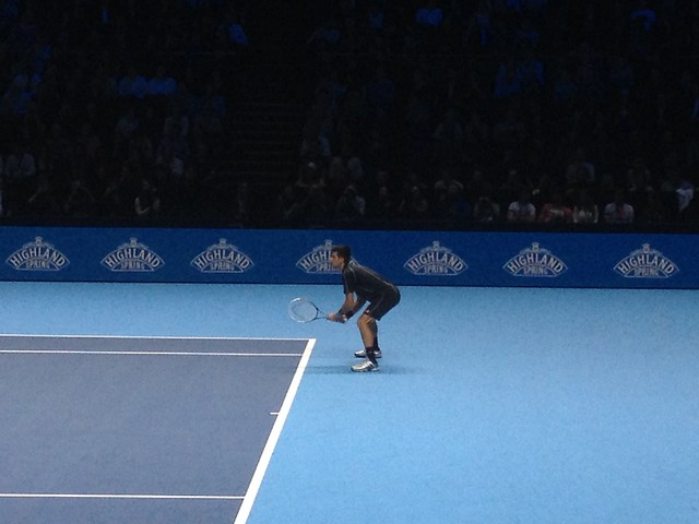 Novak Djokovic during the finals of the ATP World Tour Finals