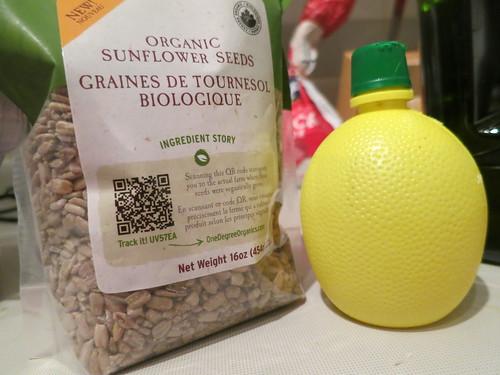 Green pea, sunflower seed and miso pesto