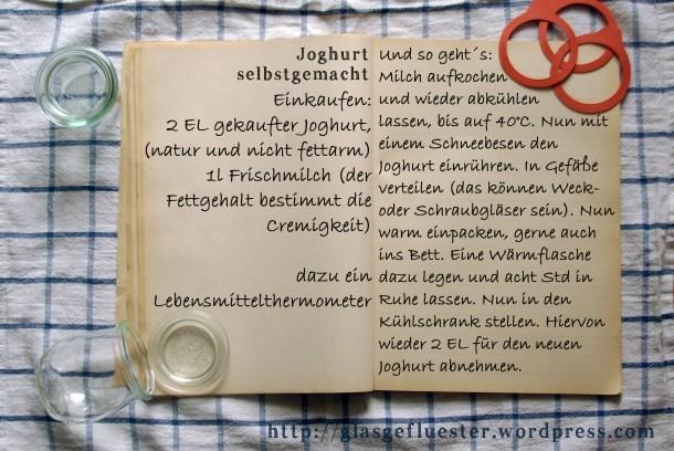 Einkaufszettel Joghurt by Glasgefluester