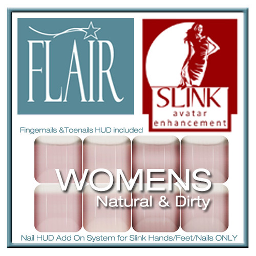 Flair - Nail Hud Add Ons both types Included Set 153 Womens Natural & Dirty