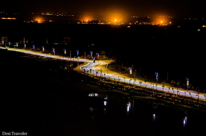 Peerancheru lake in night PBEL city