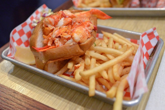 Split-Top Maine Lobster Roll warm with butter