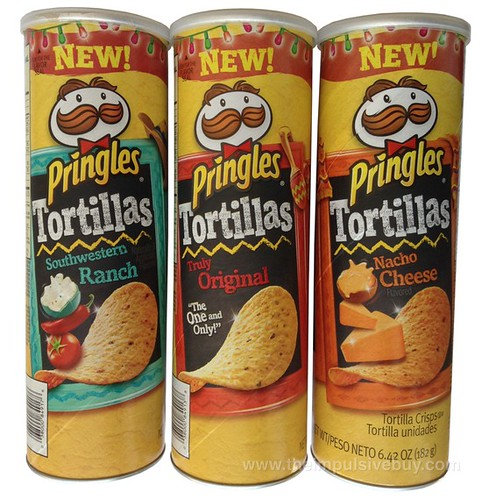 Pringles Tortillas (Truly Original, Nacho Cheese, and Southwestern Ranch)